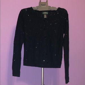 Ralph Lauren button up sequence sweater